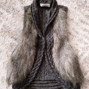Gray vest , size s